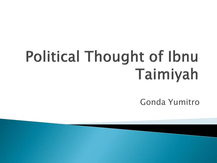 political thought of ibnu taimiyah n.