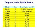 progress in the public sector