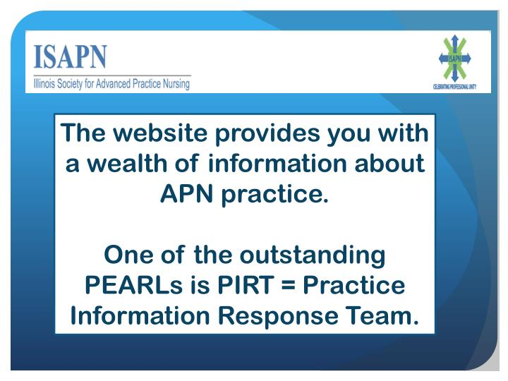 The website provides you with a wealth of information about  APN practice.