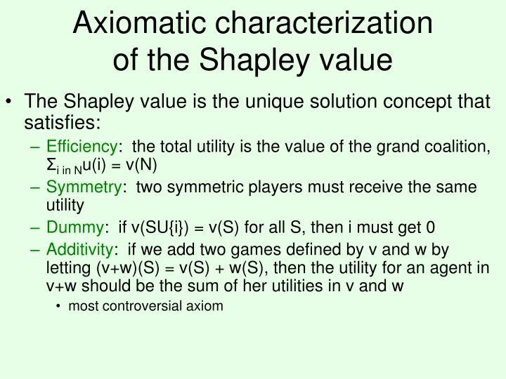 Axiomatic characterization