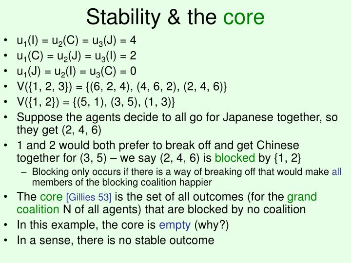 Stability & the