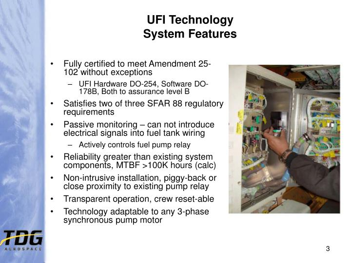 Ufi technology system features