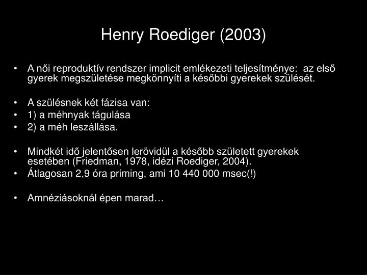 Henry Roediger (2003)
