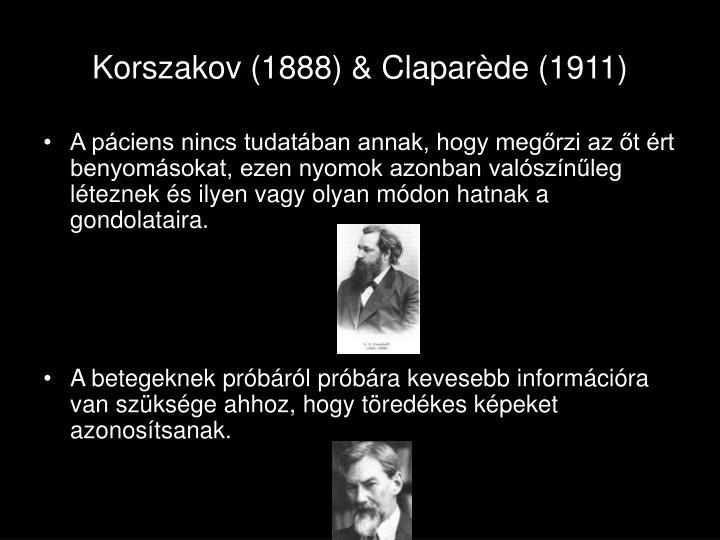 Korszakov (1888) & Clapar