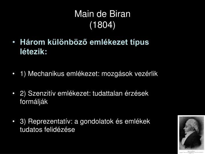 Main de biran 1804