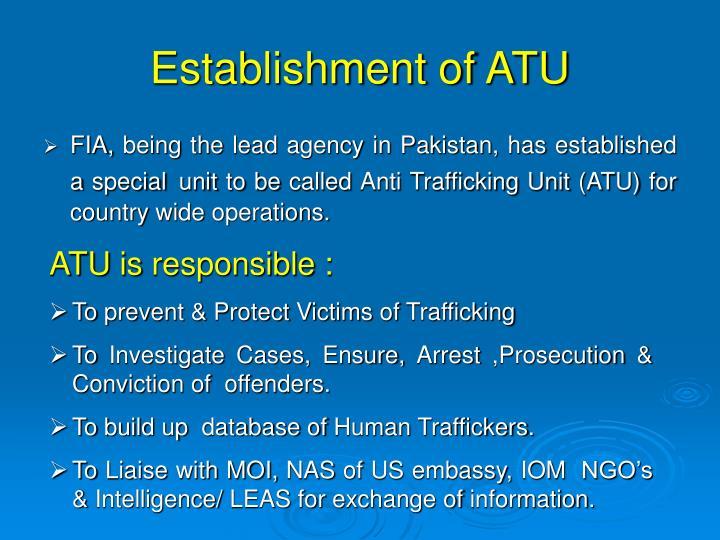 Establishment of ATU