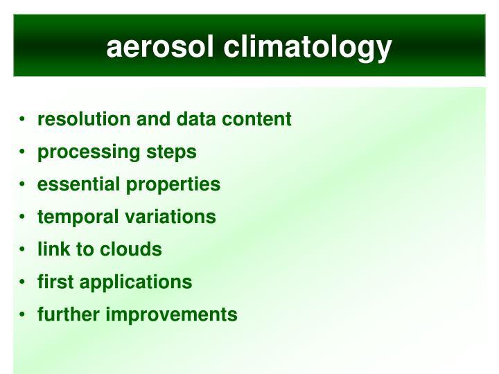 aerosol climatology