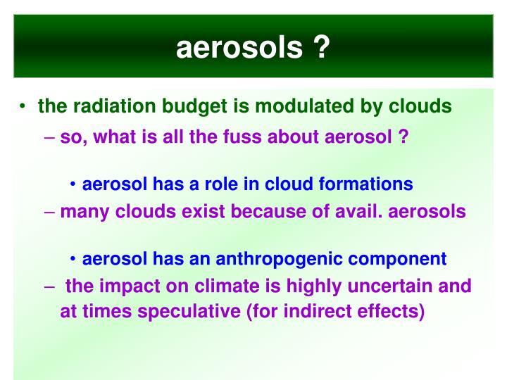 aerosols ?