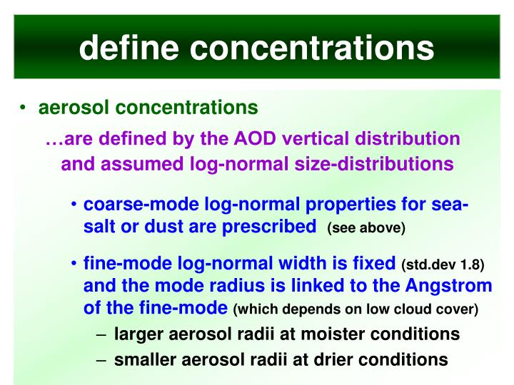 define concentrations