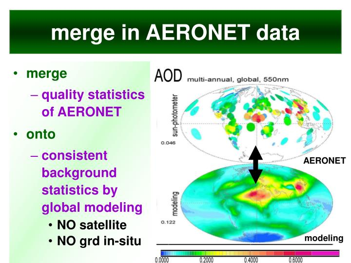 merge in AERONET data