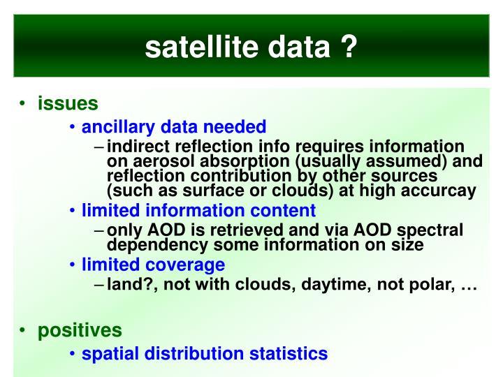 satellite data ?