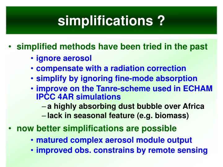 simplifications ?