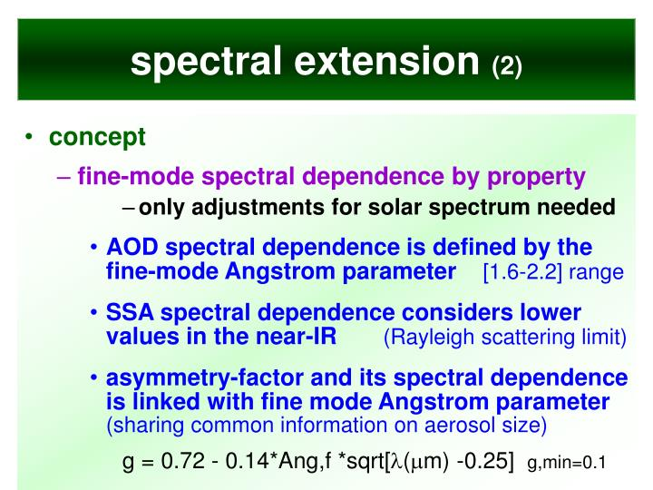 spectral extension