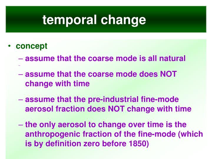 temporal change