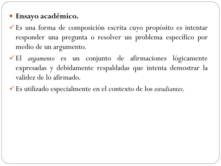 Ensayo académico.