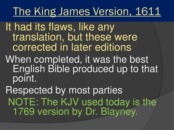 The King James Version, 1611