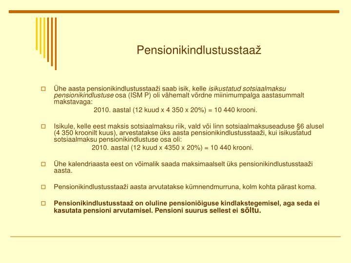 Pensionikindlustusstaa