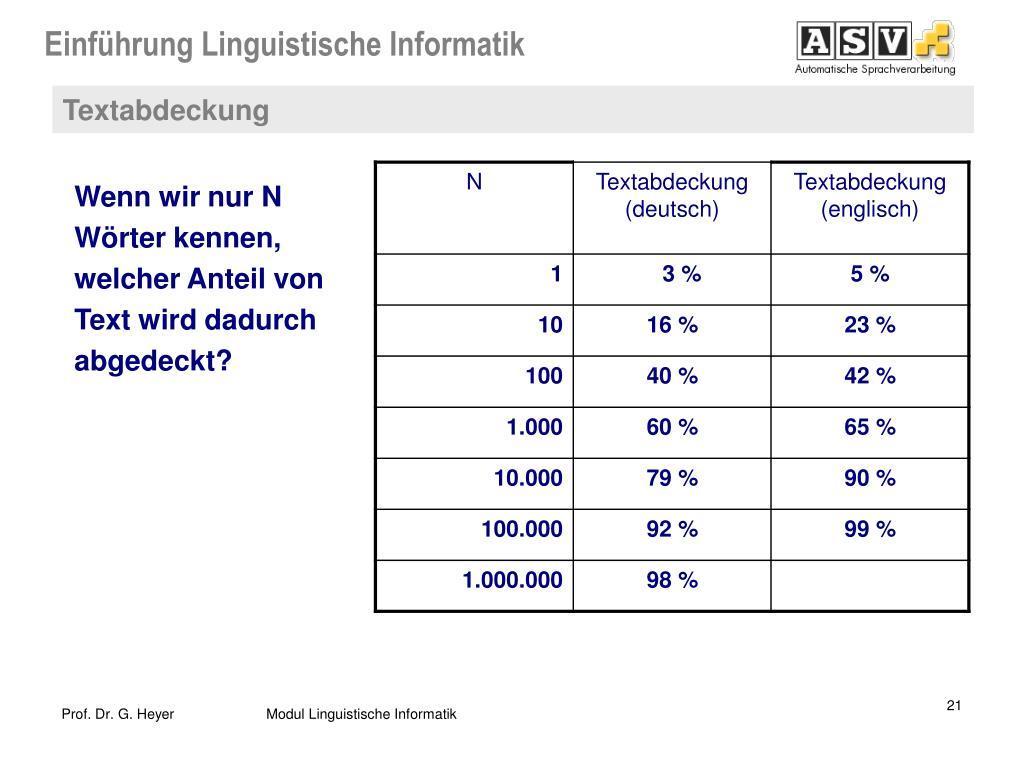Linguistische Informatik