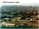 aub founded in 1866