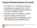 potential collaboration between itu and aub