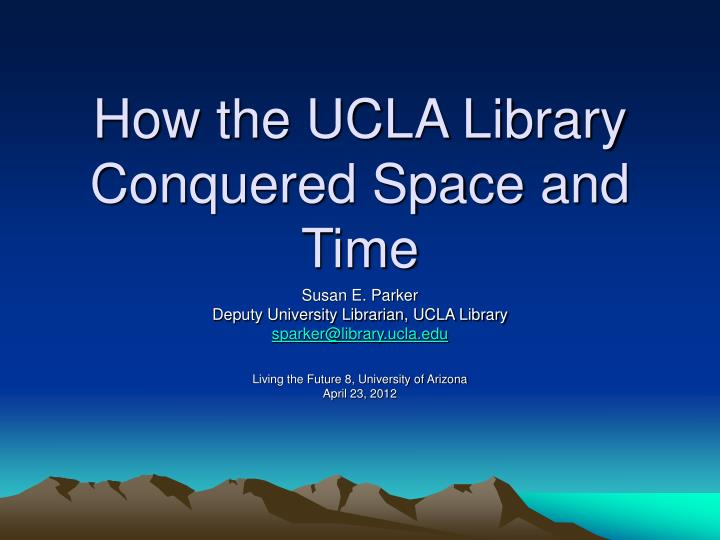 ucla thesis library