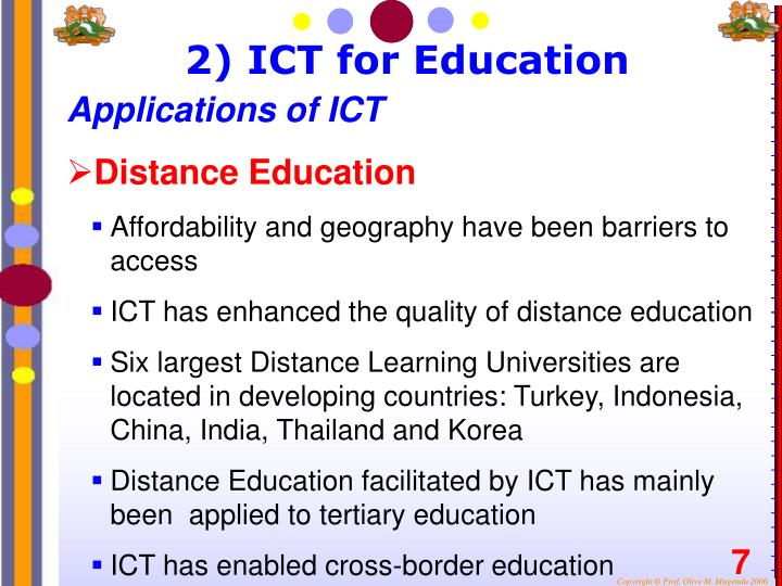 2) ICT for Education