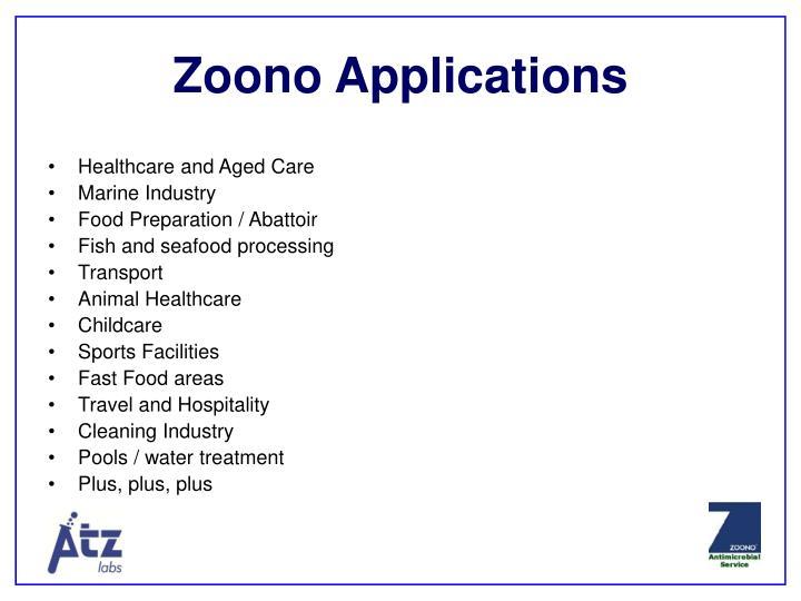 Zoono Applications