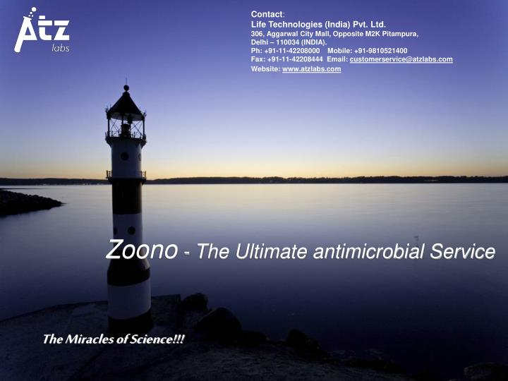 Zoono the ultimate antimicrobial service
