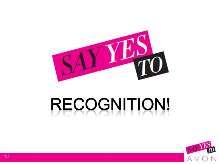 RECOGNITION!