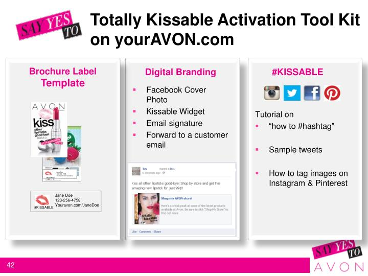 Totally Kissable Activation Tool Kit 		on yourAVON.com