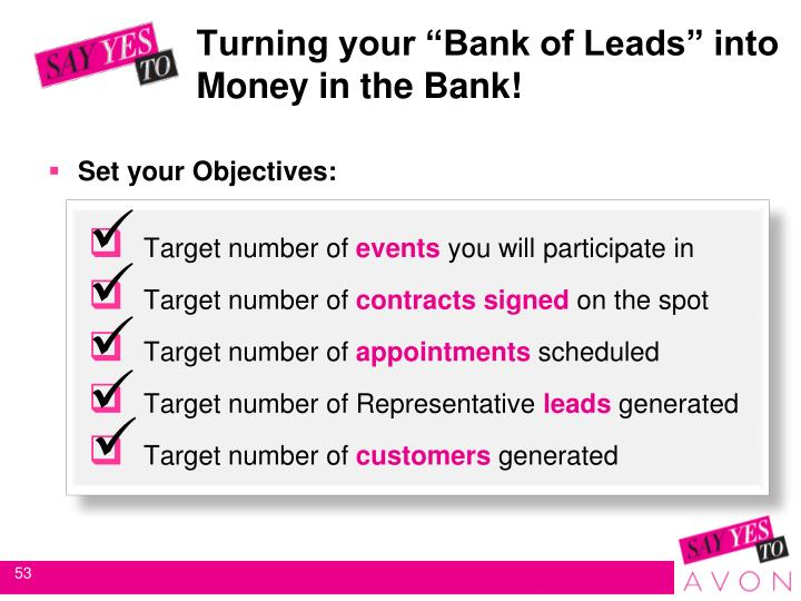 "Turning your ""Bank of Leads"" into 		Money in the Bank!"