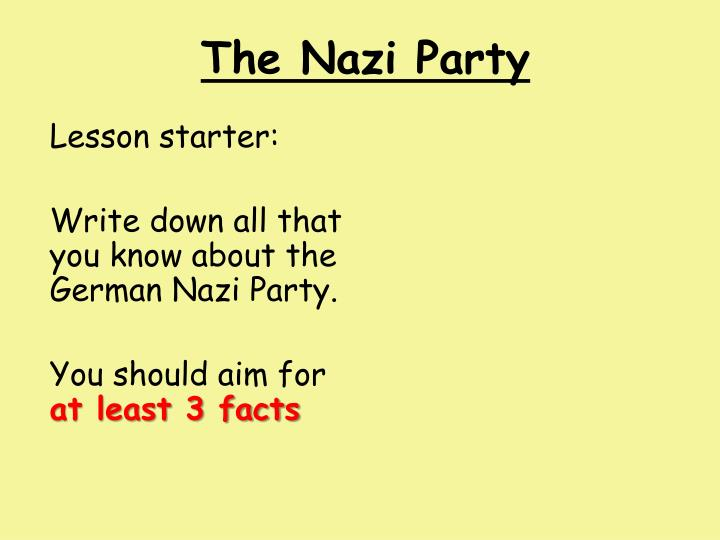 the nazi party n.