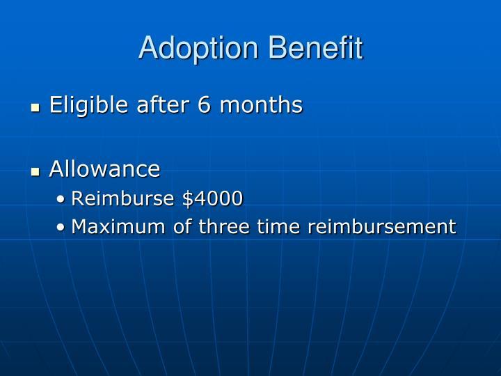 Adoption Benefit