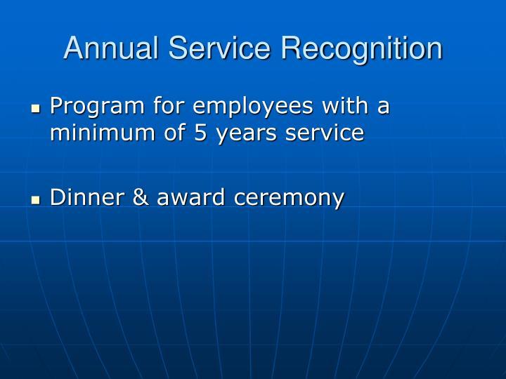 Annual Service Recognition