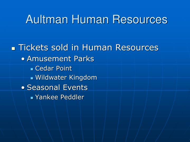 Aultman human resources