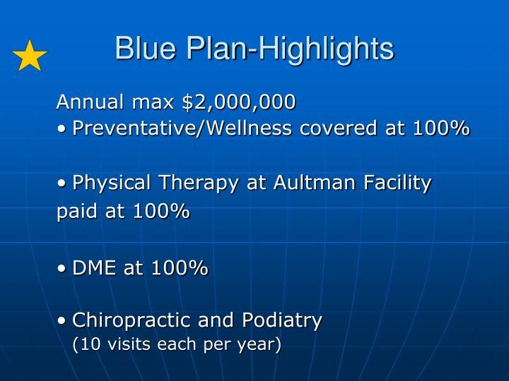 Blue Plan-Highlights
