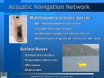 acoustic navigation network