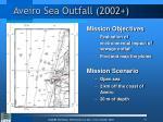 aveiro sea outfall 2002