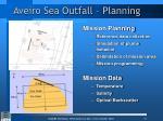 aveiro sea outfall planning