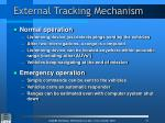 external tracking mechanism