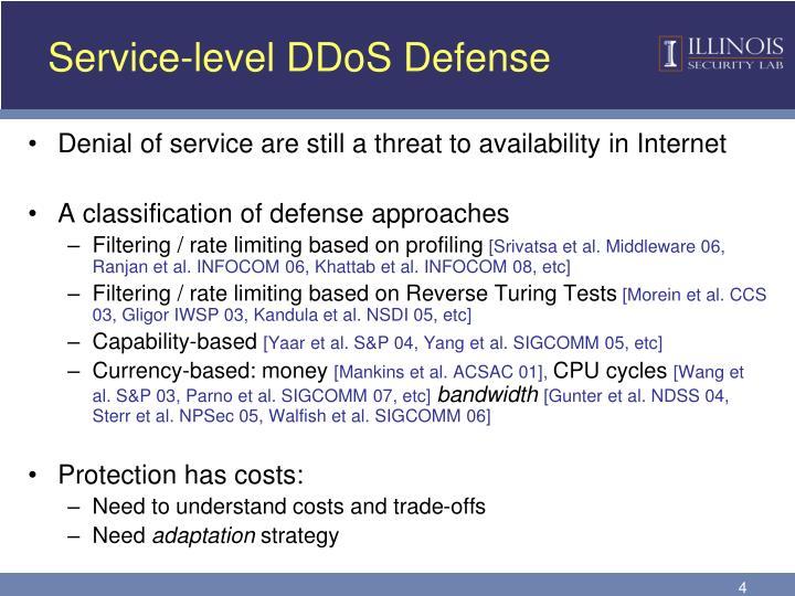 Service-level DDoS Defense