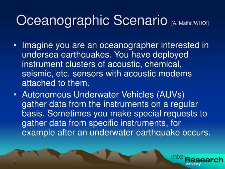 Oceanographic scenario a maffei whoi