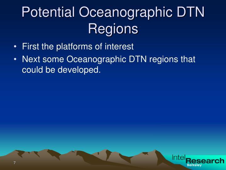 Potential Oceanographic DTN Regions