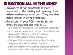 is emotion all in the mind