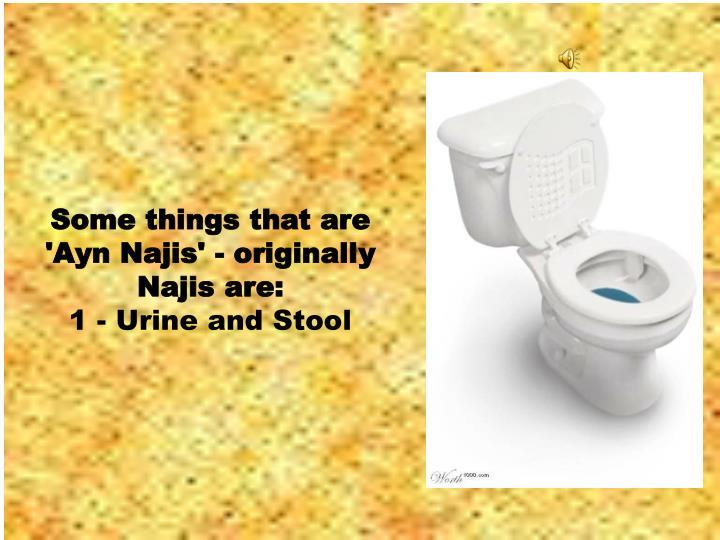 Some things that are 'Ayn Najis' - originally Najis are: