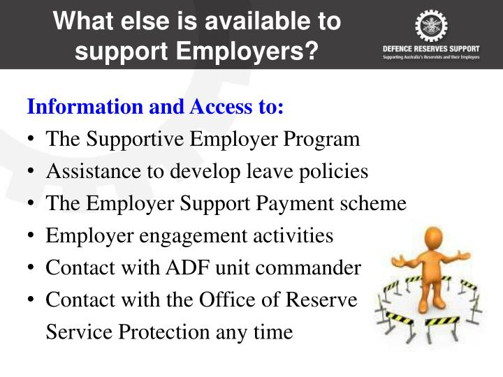 What else is available to support Employers?