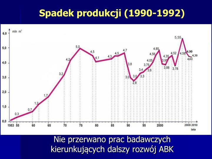 Spadek produkcji (1990-1992)