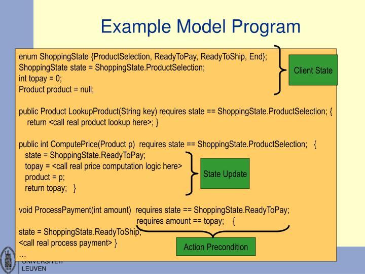 Example Model Program