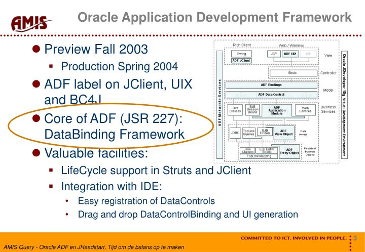 oracle application framework Oracle application framework (oa framework or oaf) is a proprietary framework developed by oracle corporation for application development within the oracle e-business suite (ebs)[1] the.