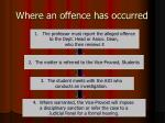 where an offence has occurred
